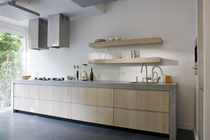 Witte keuken donker werkblad – atumre.com