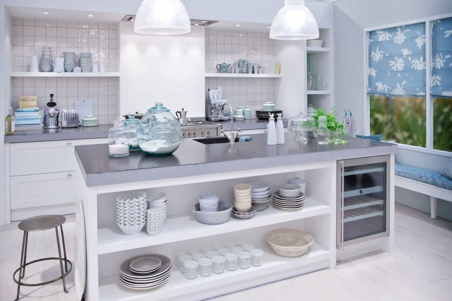 Betonnen keukenwerkblad - Gepolierde Betonvloer