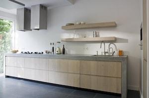 Gepolierd keukenwerkblad in beton