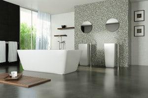 Gepolierde betonvloer in je badkamer
