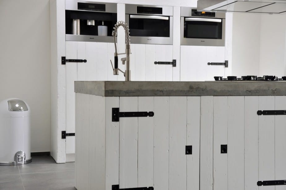 Witte keuken beton - Werkblad voor witte keuken ...