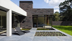 Terras in gepolierde betonvloer